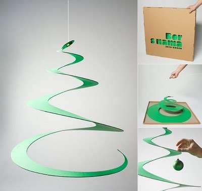 Swirly Christmas Trees