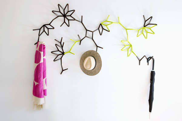 Plant-Like Connectable Coat Racks