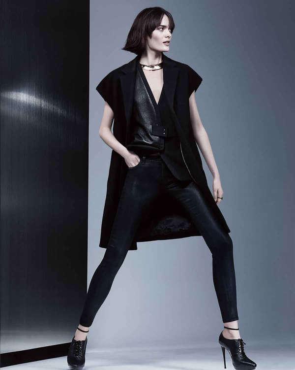 Edgily Sleek Fashion Ads