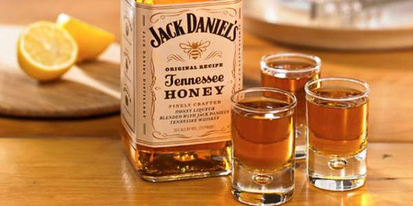 a shot of  Honey Jack Daniels