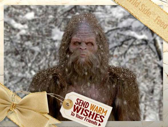 Sasquatch Pees Holiday Greetings