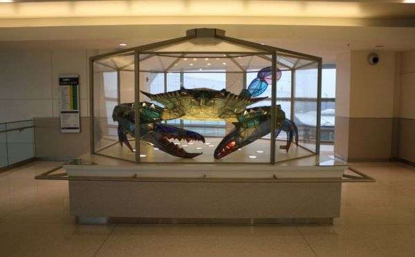 Stained Glass Crab Sculptures