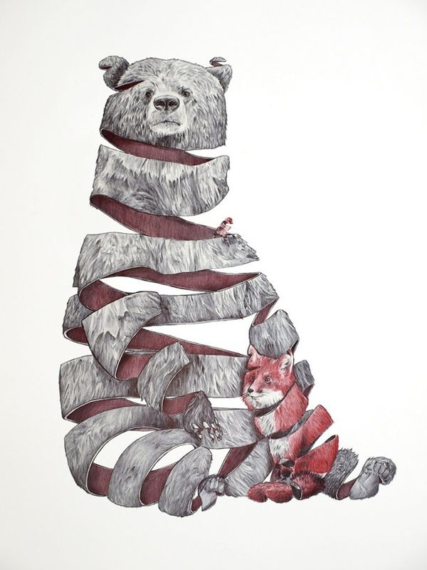 Unravelled Wildlife Illustrations