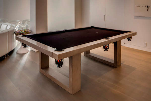 Concrete Billiard Furniture : James De Wulf Pool Table