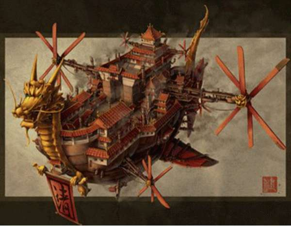 Oriental Steampunk Art