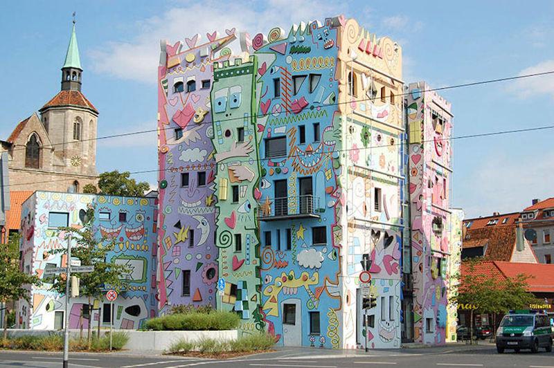 Whimsical Cartoon Buildings