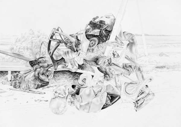 Distorted Automotive Drawings