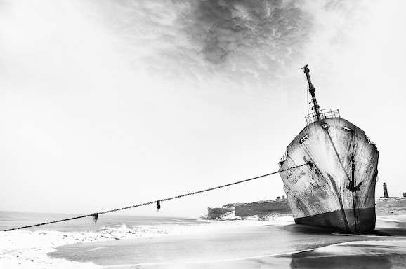 Ghostly Shipwreck Photography