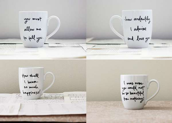 Romantic Quote Cups