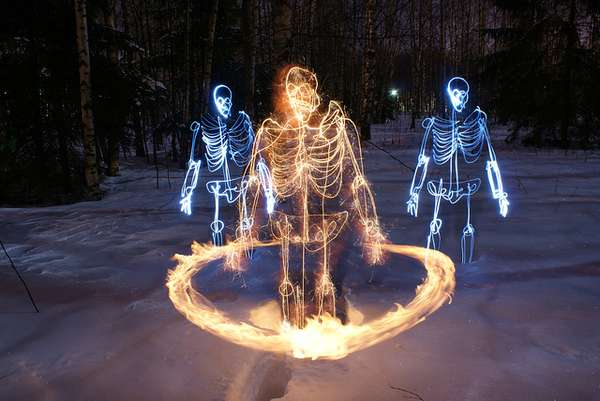 Skeletal Light Paintings