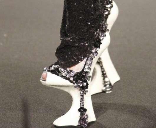 Shiny Stilted Heels