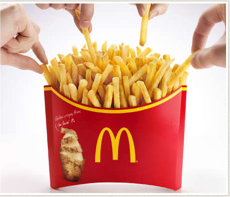 Giant French Fry Orders