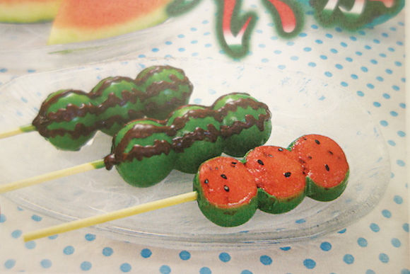 Watermelon-Shaped Dumplings