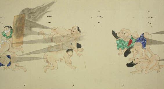 Feudal Juvenile Japanese Drawings