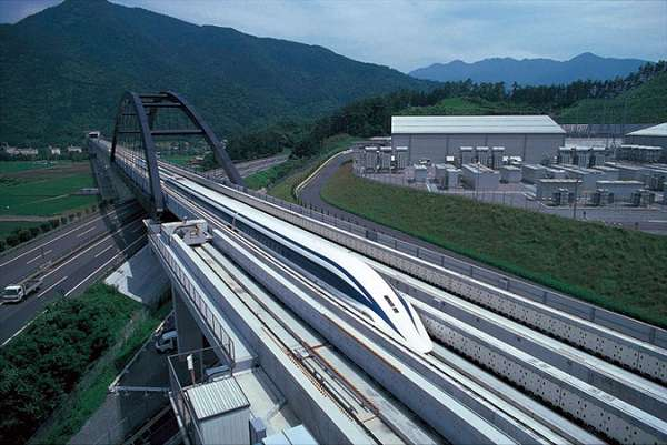 Futuristic Magnet Trains