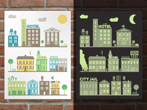 Binary City Posters