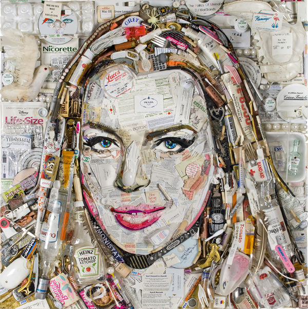Celebrity Garbage Portraits