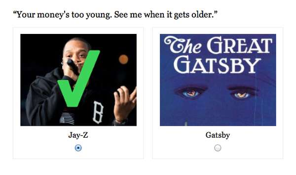 Gangster Gatsby Quizzes : Jay Z Or Great Gatsby