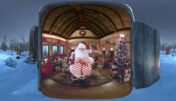 Virtual Reality Santa Visits