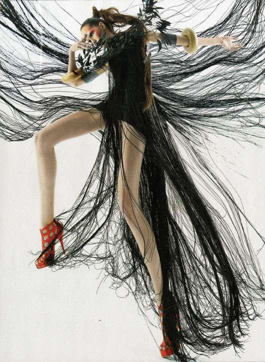 Big Bird-Inspired Hairy Fashion