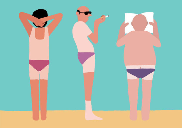 Cheeky Beach Illustrations