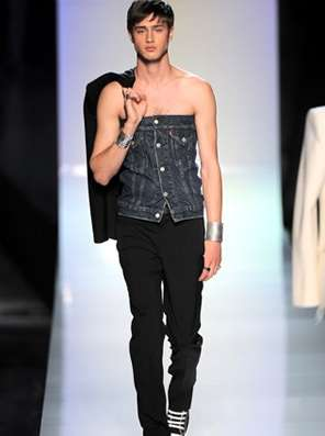 Tube Tops For Men Jean Paul Gaultiers Sleeveless Denim Shirts