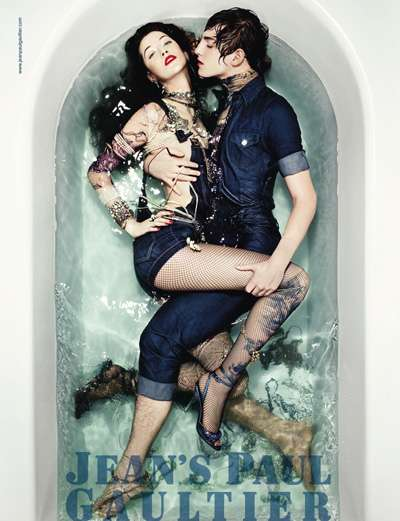 Bathtub Fashion Ads