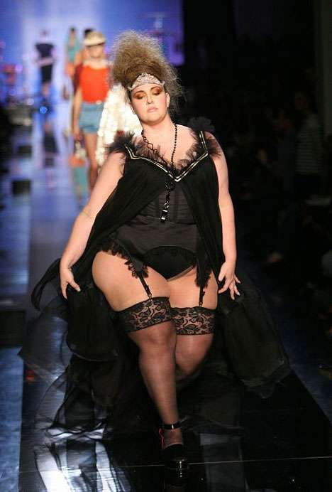 Jean Paul Gaultier using size 20+ models