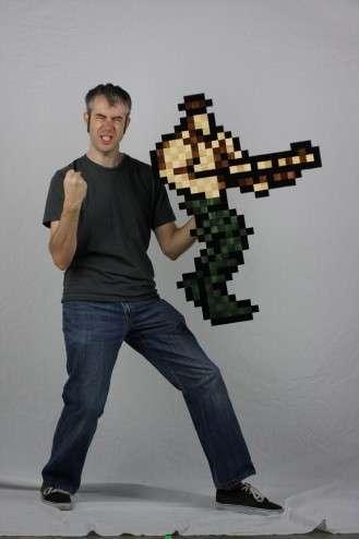 8-Bit Wood Art