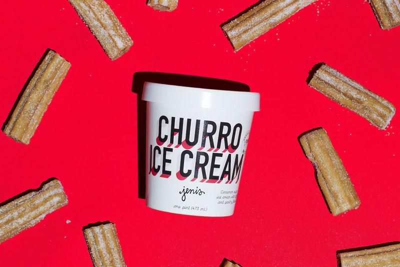Pastry-Filled Churro Ice Cream