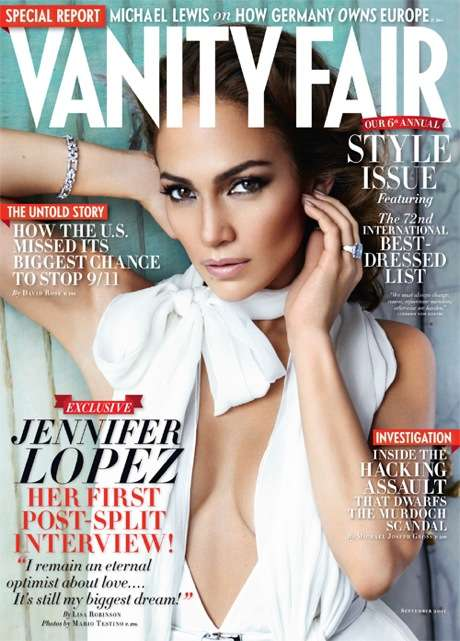Jennifer Lopez Vanity Fair September 2011