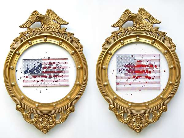 Patriotic Mixed Media Art