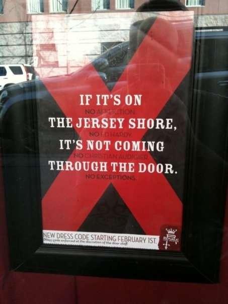 'Jersey Shore' Bans