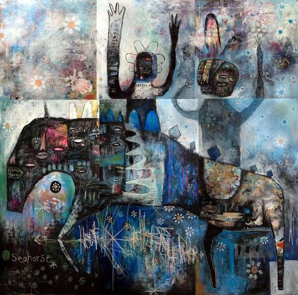 Phantom Tiki Mask Paintings