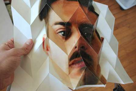 Kaleidoscopic Origami Portraits