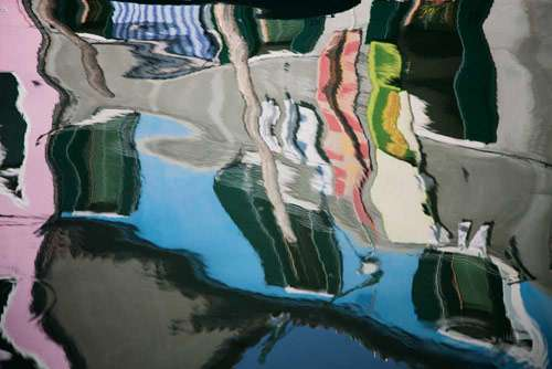 Watery Street Reflection Photography