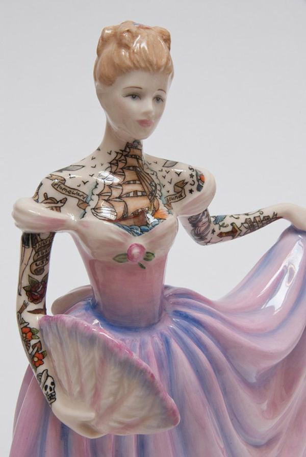 Feminine Tattooed Figurines