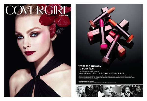 Dramatic Supermodel Cosmetics Campaigns