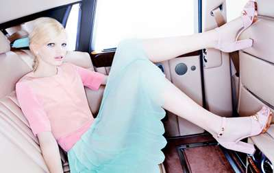 Backseat Bubblegum Fashion Photography