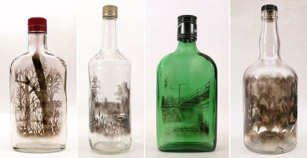 Bottled Soot Art