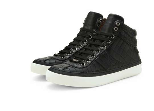 Crocodile Embossed Sneakers