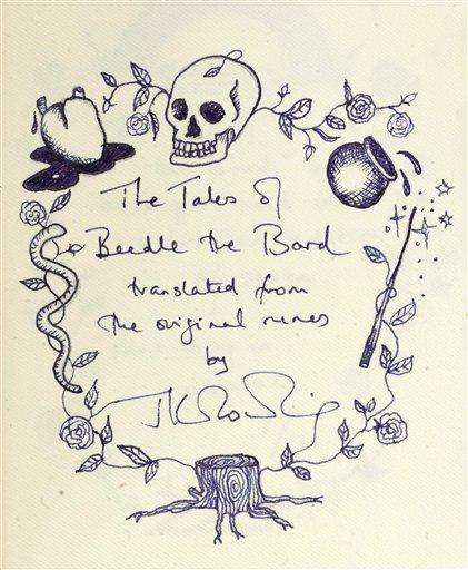 J.K. Rowling's Handwritten/Illustrated Books
