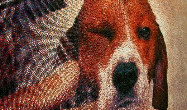Sprinkled Pointillist Paintings