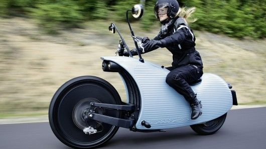 Snail-Shaped Electric Motorbikes