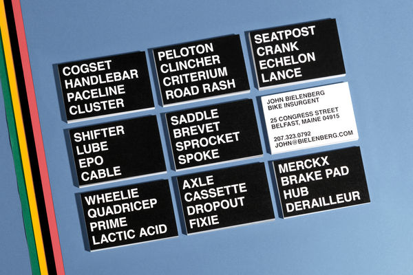 Mashed-Up Wordy Business Cards