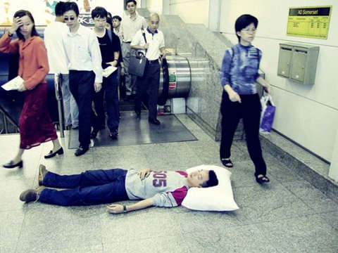 Public Snoozing Photography