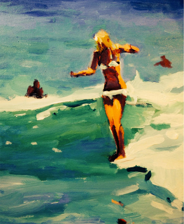 Faceless Surfer Paintings