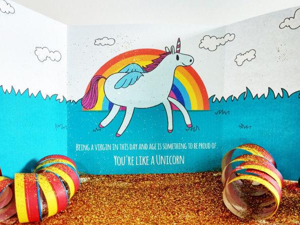 Glittery Unicorn Cards