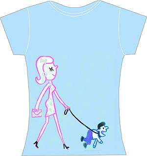 Girl Walking Boy Shirt
