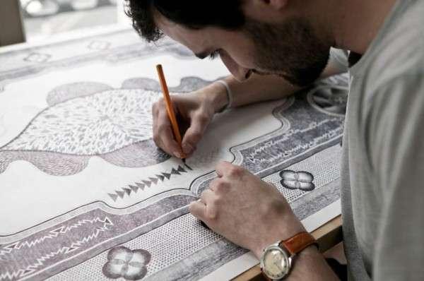 Intricate Carpet Illustrations